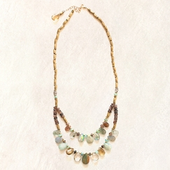 Avindy Peruvian Opal Bibb Necklace
