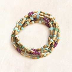 Avindy Ruby and Opal Wrap Bracelet