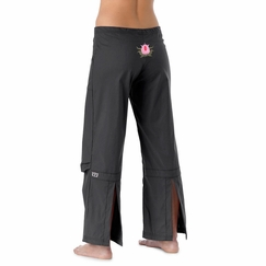 Be Present Lotus Agility Pant in Graphite w/ Pink Lotus