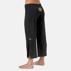 Be Present Sun Agility Pant in Black w/ Yellow Sun