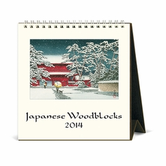 Cavallini 2014 Desk Calendar - Japanese Woodblocks (6 x 6.5)