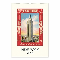 Cavallini Papers 2016 Wall Calendar - New York (13 x 19)