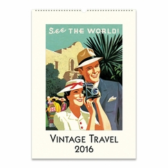 Cavallini Papers 2016 Wall Calendar - Vintage Travel (13 x 19)