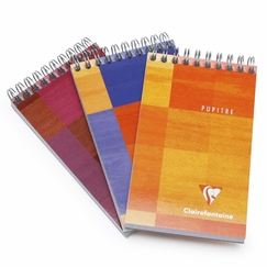 Clairefontaine Classic Pocket Top Spiral Bound Notepad (3.75 x 5.5) in Ruled (lined pages) [8626]