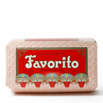 Claus Porto Large Bar Soap (350 gram) in Favorito (Red Poppy)