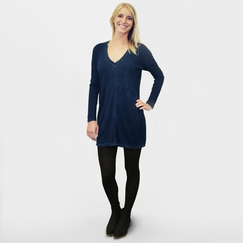 Cotton Citizen Long Sleeved Mini Dress in Navy