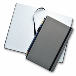 Fabio Ricci Goran Medium Hard Cover Notebook (5 x 8.25 in.) in Grey