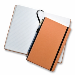 Fabio Ricci Goran Medium Hard Cover Notebook (5 x 8.25 in.) in Orange