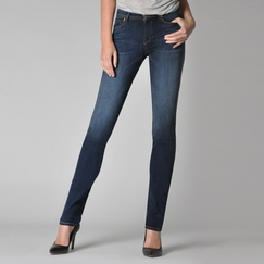 Fidelity Jeans Stevie Mid Rise Tapered Jean in Capital Blue