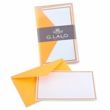 G. Lalo Double Bordered Correspondence Sets (3.25 x 5.25) in Melon
