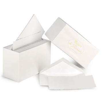 G. Lalo Mode de Paris Boxed Stationery (3.75 x 6) in White