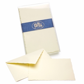 G. Lalo Verge de France Correspondence Sets (3.75 x 6) in Ivory