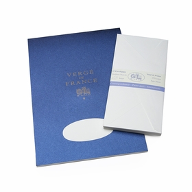 G. Lalo Verge De France Large Tablet and Envelope Set (8.25 x 11.75) in White