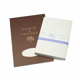 G. Lalo Verge De France Medium Tablet and Envelope Set (5.75 x 8.25) in Ivory