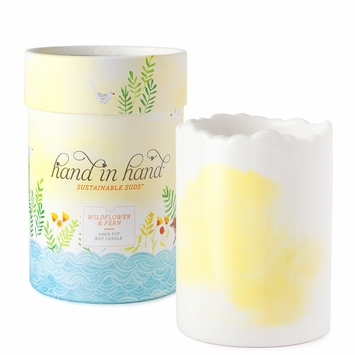Hand in Hand Soy Wax & Essential Oil Candle in Wildflower & Fern