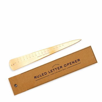 Izola Brass Ruled Letter Opener