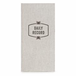 Izola Daily Record Linen Ledger in Daily Record