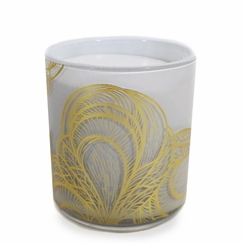Jordan Carlyle White Candle in Mustique (Linen and Rose)