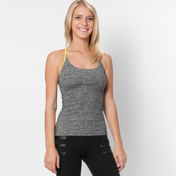 Koral Activewear Paradox Tank in Heather/Spirit Green