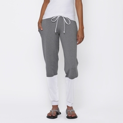 Koral Immersion Sweatpant in Heather Grey/White