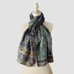 Organic Letol Printed Cotton Scarf in Cameron