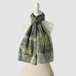 Organic Letol Printed Cotton Scarf in Gontrand