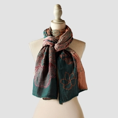 Organic Letol Printed Cotton Scarf in Leonie