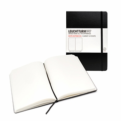 Leuchtturm1917 Large Hard Cover Dot Notebook (5.75 x 8.25) in Black