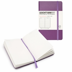 Leuchtturm1917 Pocket Hard Cover Ruled Notebook (3.5 x 6) in Purple