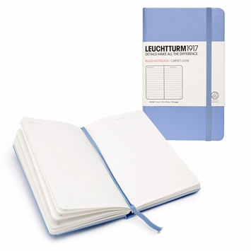 Leuchtturm1917 Pocket Hard Cover Ruled Notebook (3.5 x 6) in Blue