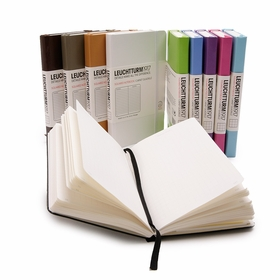Leuchtturm1917 Pocket Hard Cover Squared Notebook (3.5 x 6) in Black