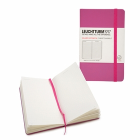 Leuchtturm1917 Pocket Hard Cover Squared Notebook (3.5 x 6) in Pink