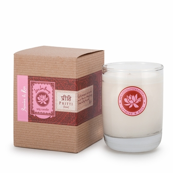 Lotus Love Beauty Kalava Soy Candle in Pritti (Jasmine & Rose)