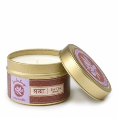 Lotus Love Beauty Soy Candle Tin in Satya (Lavender & Sage)