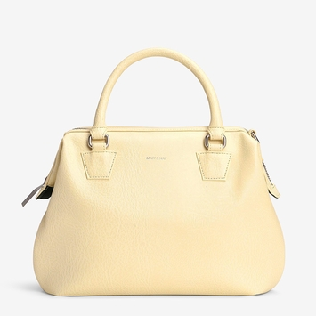 Eco Matt & Nat Malone Satchel in Lemonade