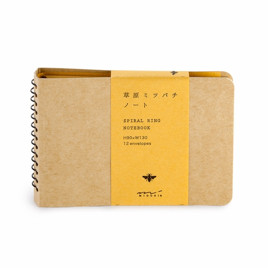 Midori B7 Bee Side Spiralbound Envelope Notebook (5 x 3.5)