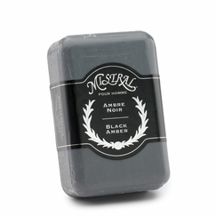 Mistral Organic Grapeseed Oil Bar Soap in Black Amber