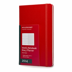 Moleskine 2014 Large Red Weekly Planner + Notes (5 x 8.25)