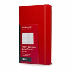 Moleskine 2014 Pocket Red Weekly Planner + Notes (3.5 x 5.5)