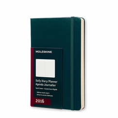 Moleskine 2016 Large Hard Cover Daily Planner (5 x 8.25) in Tide Green