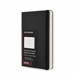 Moleskine 2016 Large Hard Cover Daily Planner (5 x 8.25) in Black