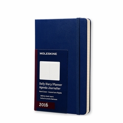 Moleskine 2016 Large Hard Cover Daily Planner (5 x 8.25) in Royal Blue