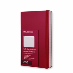 Moleskine 2016 Large Hard Cover Daily Planner (5 x 8.25) in Scarlet Red