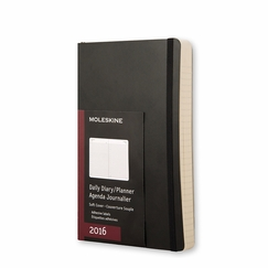 Moleskine 2016 Large Soft Cover Daily Planner (5 x 8.25) in Black
