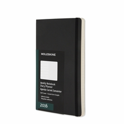 Moleskine 2016 Large Soft Cover Weekly Planner + Notes (5 x 8.25) in Black