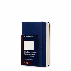 Moleskine 2016 Pocket Hard Cover Daily Planner (3.5 x 5.5) in Royal Blue