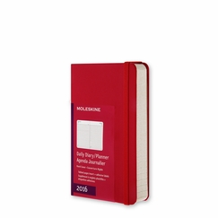 Moleskine 2016 Pocket Hard Cover Daily Planner (3.5 x 5.5) in Scarlet Red