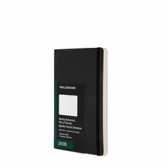 Moleskine 2016 Pocket Soft Cover Weekly Planner + Notes (3.5 x 5.5) in Black