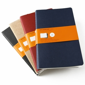 Moleskine Cahier Large Ruled Notebook (set of 3) (5 x 8.25) in Red