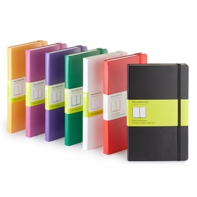 Moleskine Classic Large Plain Notebook (5 x 8.25) in White